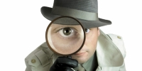 Spion, Spionage, Lupe, Agent 16:9 - Business-Vector.Info